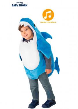 Disfraz de Daddy Shark con música para niños y bebé