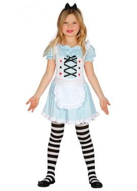 Disfraz de Dama de Cartas para niña
