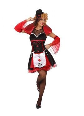 Disfraz de Dama de Tréboles sexy para mujer M-L