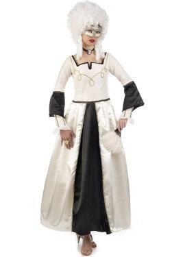 Disfraz de Dama Época Veneciana Blanco para mujer
