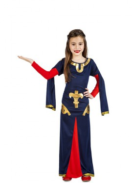 Disfraz de Dama Medieval Carta para niña