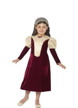 Disfraz de Dama Tudor  Morado para niña