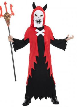 Disfraz de Demonio con máscara para niño