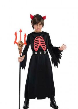 Disfraz de Demonio Esqueleto para niño
