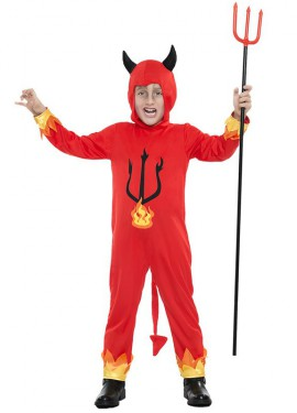 Disfraz de Demonio Llamas para niño