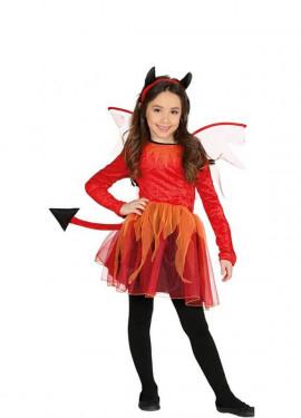 Disfraz de Diablesa con alas para niña