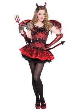 Disfraz de Diablesa para niñas y adolescentes Halloween