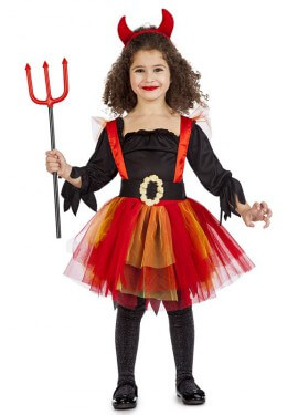 Disfraz de Diablesa Tutú para niña