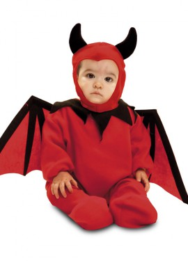 Disfraz de Diablillo bebé para bebés de 7 a 12 meses para Halloween