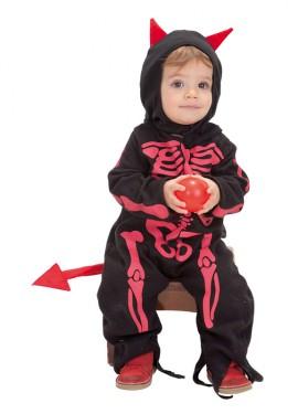 Disfraz de Diablillo esqueleto para bebé