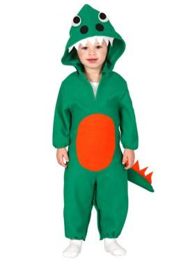 Disfraz de Dinosaurio verde Baby