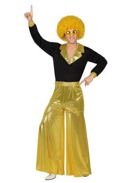 Disfraz de Disco Man dorado