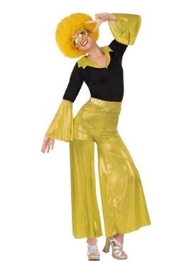 Déguisement Disco Girl Doré pour Femme. Plusieurs tailles