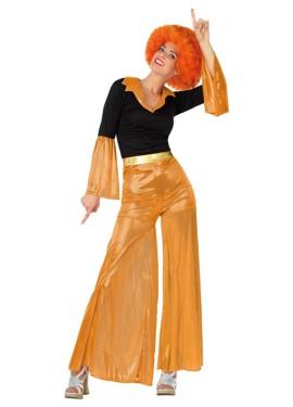 Déguisement Disco Girl Orange pour Femme. Plusieurs tailles