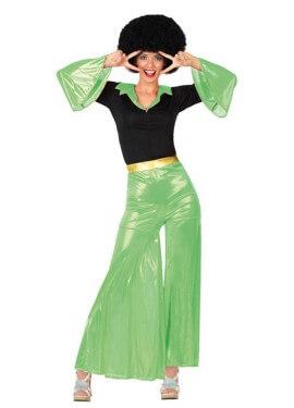 Déguisement Disco Girl Vert pour Femme. Plusieurs tailles
