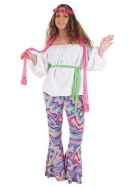 Disfraz de Disco guateque para mujer