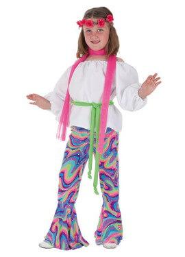 Disfraz de Disco guateque para niña