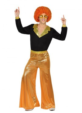 Disfraz de Disco Man naranja