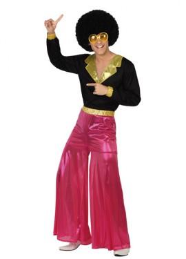 Déguisement Disco Man Rose pour Homme. Plusieurs tailles