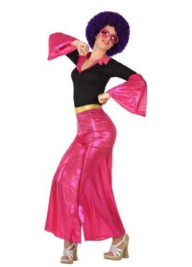 Déguisement Disco Girl Rose pour Femme. Plusieurs tailles