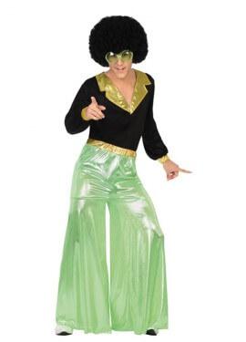 Disfraz de Disco Man verde