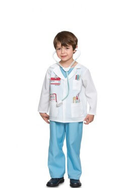 Disfraz de Doctor con identificación para niño