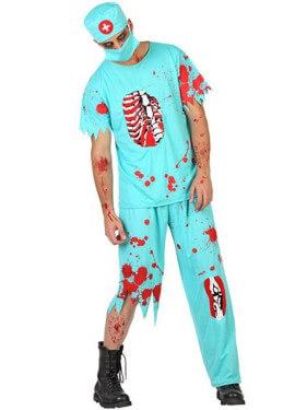 Disfraz de Doctor Zombie sangriento para hombre