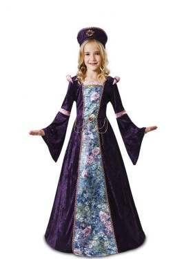 Disfraz de Doncella Lavanda para niña