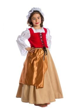 Disfraz de Doncella Medieval para bebés y niñas