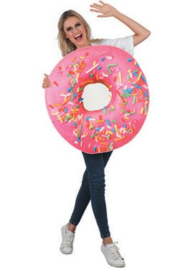 Disfraz de Donuts Fresa para adultos
