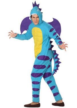 Costume da drago blu per uomo