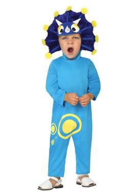 Disfraz de Dragoncito azul para bebé