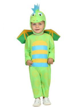 Disfraz de Dragoncito verde para bebé