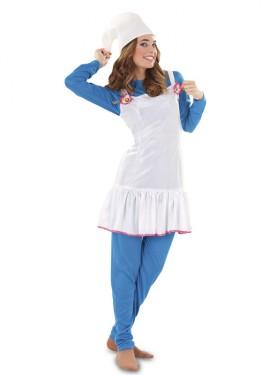 Disfraz de Duende Azul para mujer talla M-L