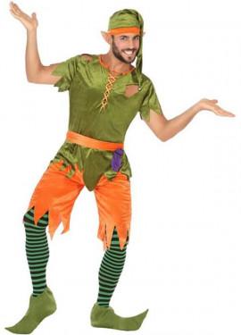 Disfraz de Duende Verde y Naranja para hombre