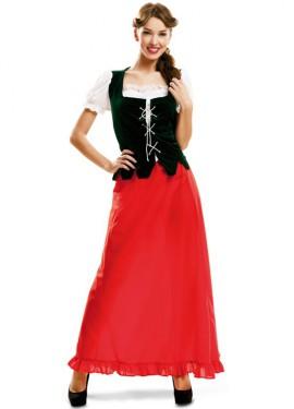 Disfraz de Dulcinea medieval para mujer
