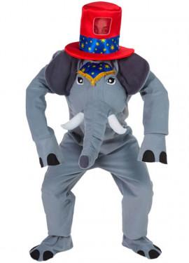 Costume da circo elefante per un uomo