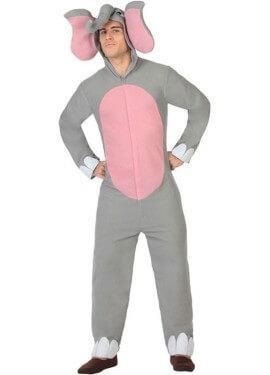 Costume elefante grigio per un uomo
