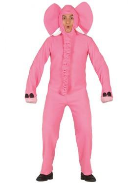 Disfraz de Elefante rosa para hombre