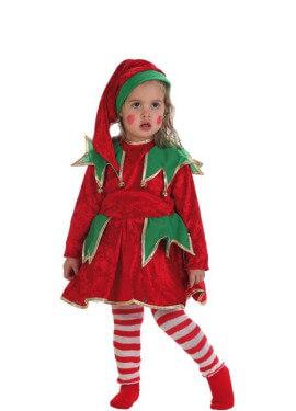 Disfraz de Elfa ayudante de Santa para niña