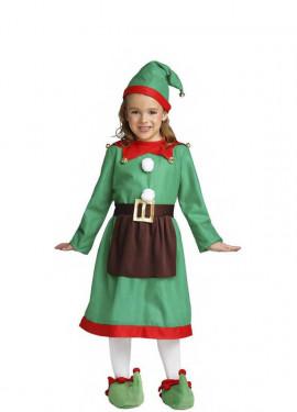 Disfraz de Elfa con delantal para niña y bebé