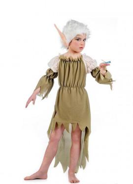 Disfraz de Elfa Nadia deluxe para niña