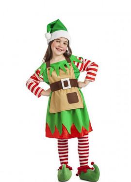 e113816a3 Disfraz de Elfa Navidad para niña