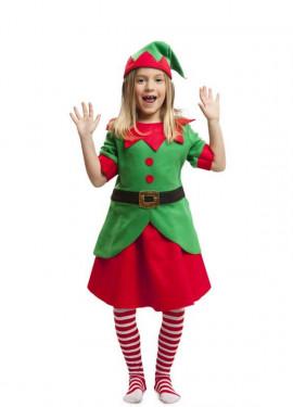 Disfraz de Elfa Navidad para niña