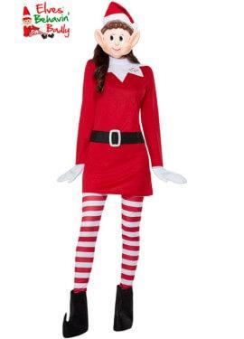 Disfraz de Elfa Roja de Elves Behavin Badly para mujer