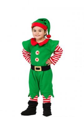Disfraz de Elfo a rayas para bebé