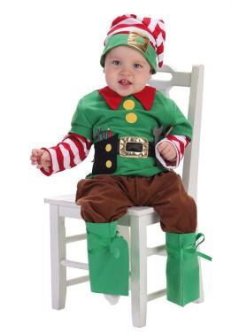 Disfraz de Elfo ayudante de Santa Claus para bebé