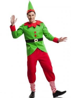 Disfraz de Elfo Navidad para hombre