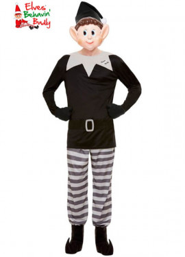 Elfi Behavin Costume da elfo nero per uomo