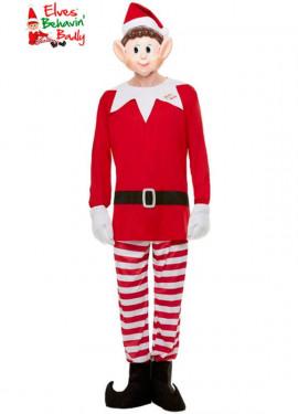 Elfi Behavin Costume da elfo rosso per uomo
